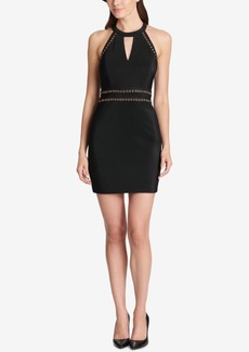 Guess Grommet Keyhole Halter Dress