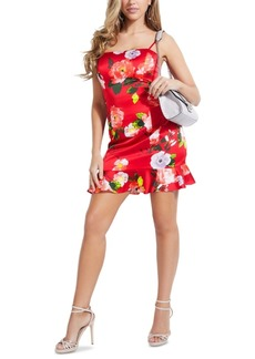 Guess Hailey Floral-Print Ruffled-Hem Dress