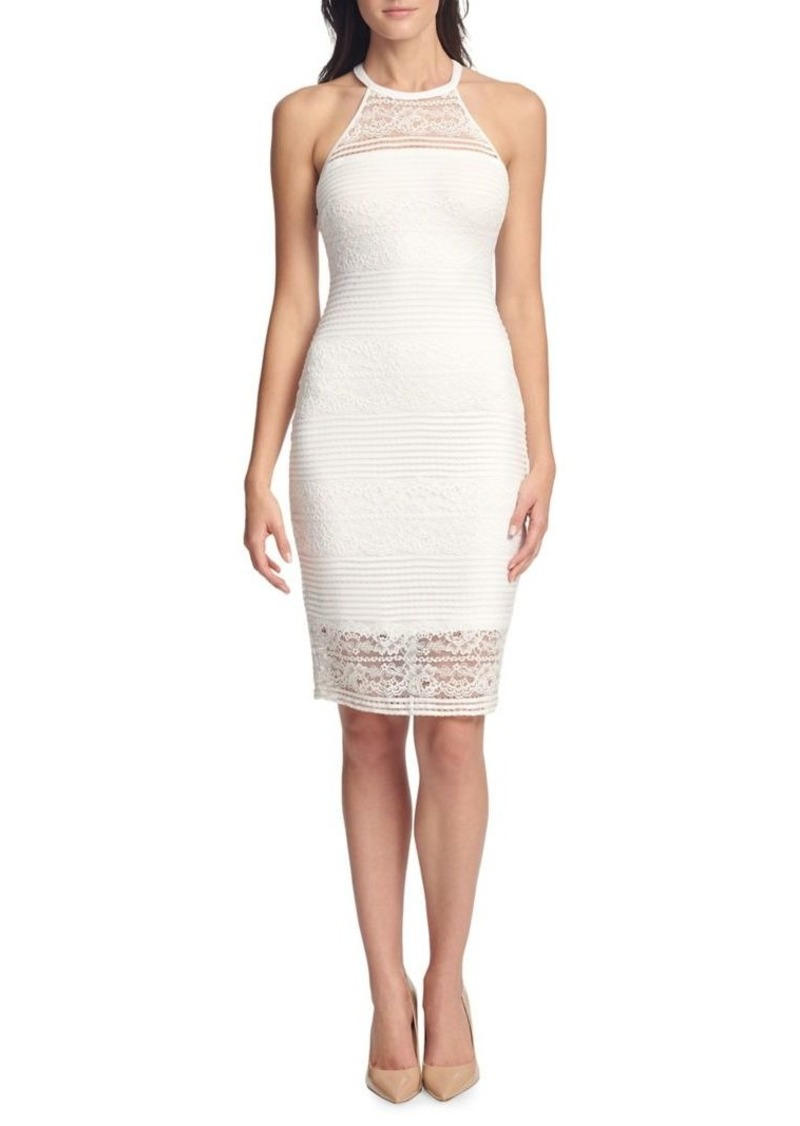 Guess Halter Lace Bodycon Dress