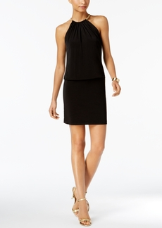 Guess Halter Necklace Blouson Dress
