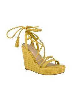 GUESS Helana Ankle Wrap Wedge Sandal (Women)