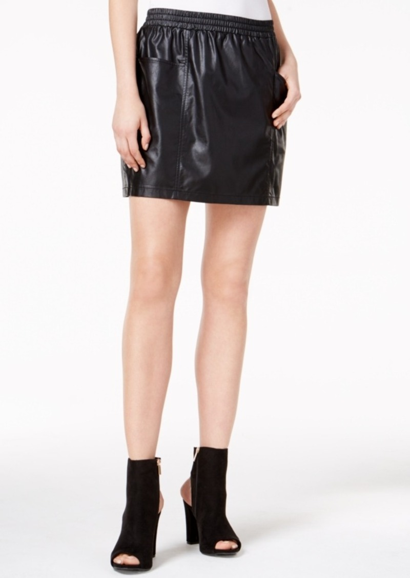 choose genuine latest sale shop for Hemingway Faux-Leather Pull-On Skirt
