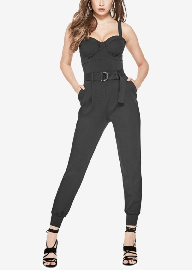 b2db38370426 SALE! GUESS Guess Hendrix Belted Bustier Jumpsuit