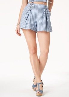 Guess Hermosa Lace-Up Linen Shorts