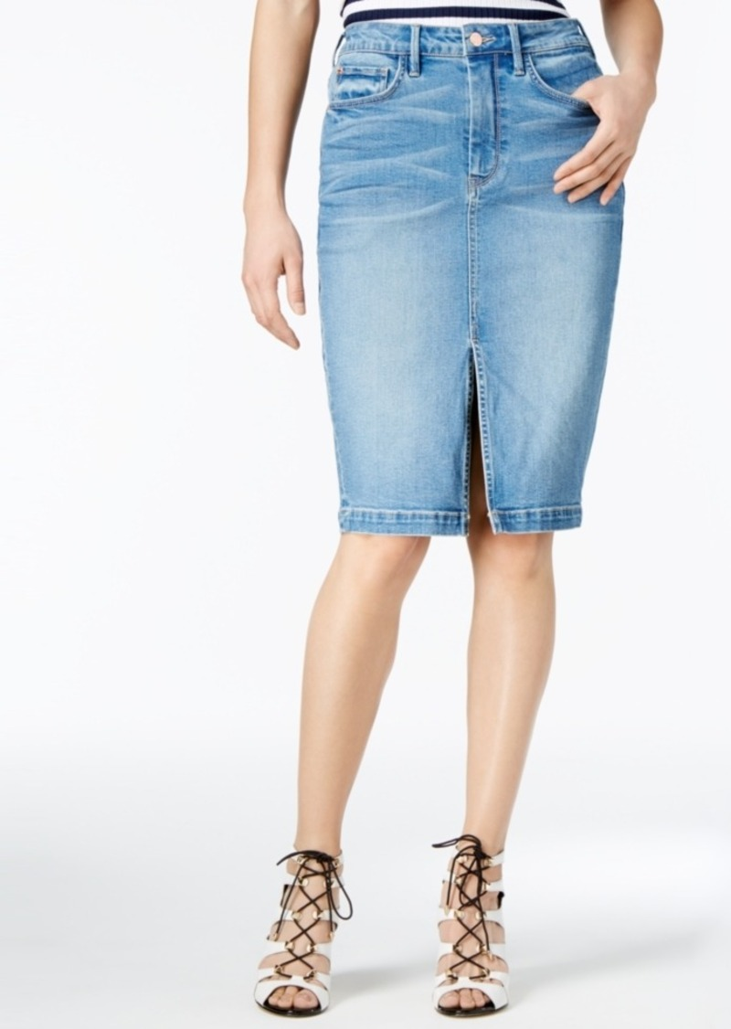 GUESS Guess High-Waist Cotton Denim Pencil Skirt | Skirts - Shop ...