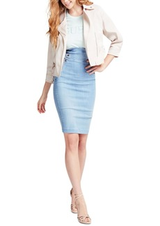 Guess Gwen Longuette High-Waist Denim Skirt