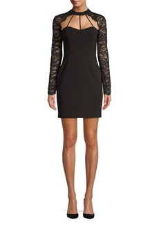 Guess Holiday Lace Bodycon Dress