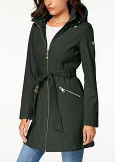 Guess Hooded Belted Raincoat