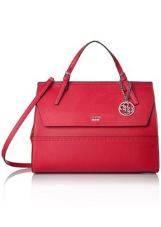 GUESS Huntley Saffiano Top Handle Flap CNY Red