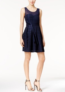 Guess Illusion Crepe Fit & Flare Dress