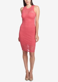Guess Illusion Lace Sweetheart Dress