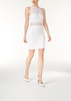 Guess Illusion Mesh Bodycon Dress