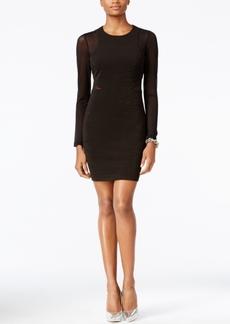 Guess Illusion Mesh Glitter Bodycon Dress