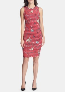 Guess Illusion-Neck Bodycon Dress, Created for Macy's