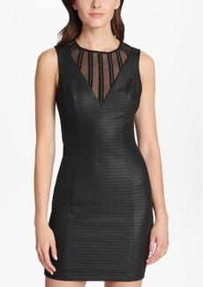 Guess Illusion-Striped Bodycon Dress