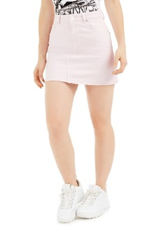 Guess India Frayed-Hem Mini Denim Skirt