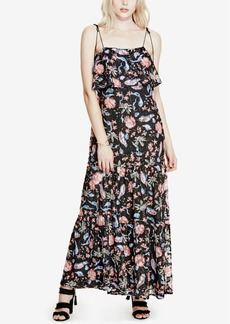 Guess Indie Printed Lace Maxi Dress