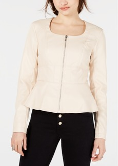 Guess Iris Peplum Faux-Leather Jacket