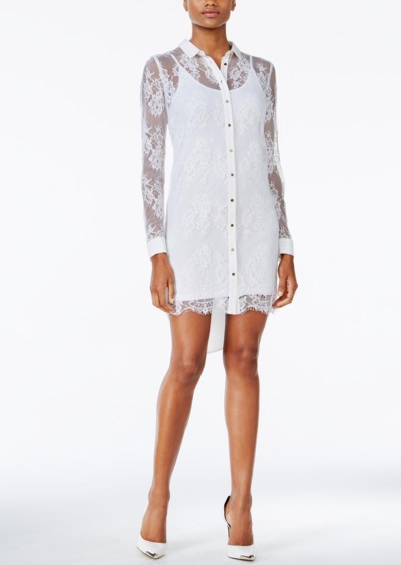 4f64597b43 GUESS Guess Isabell Lace Shirt Dress