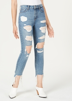 Guess It Girl Warp-Stretch Ripped Skinny Jeans