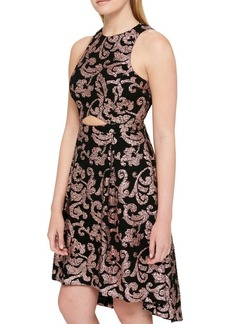 Guess Jacquard Hi-Lo Dress
