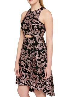 Guess Jacquard Hi-Lo Dress