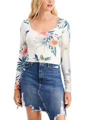 Guess Jeani Printed Cutout Tie-Back Top