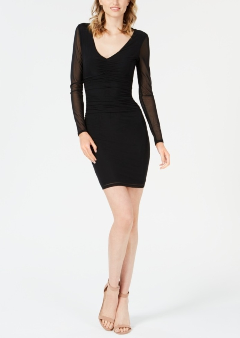 Guess Jessamine Ruched Open-Back Dress