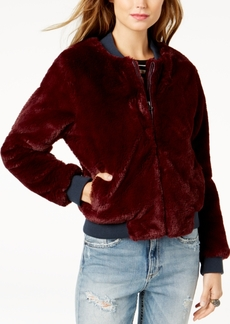 Guess Jolene Faux-Fur Bomber Jacket
