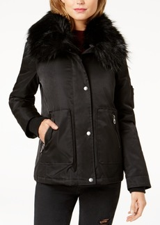 Guess Joy Faux-Fur-Collar Jacket