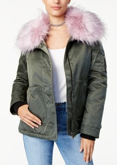 Guess Joy Faux-Fur-Collar Jacket