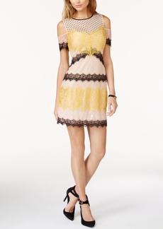 Guess Julia Cold-Shoulder Lace Dress