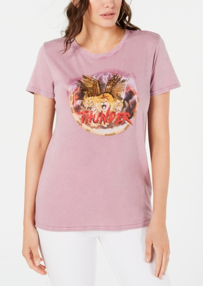 Guess Cotton Beaded Logo T-Shirt