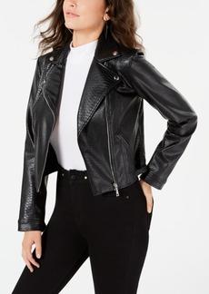 Guess Rosetta Viper Faux-Leather Moto Jacket