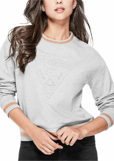 GUESS Junior's Long Sleeve Embossed Logo Sweatshirt  XL