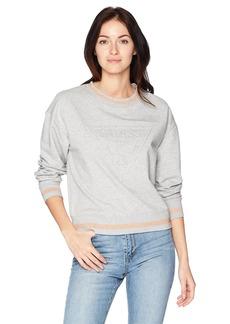 Guess Junior's Long Sleeve Embossed Logo Sweatshirt  XS