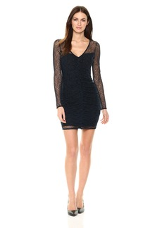 GUESS Junior's Long Sleeve Harris Lace Dress  M