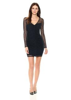 GUESS Junior's Long Sleeve Harris Lace Dress  S