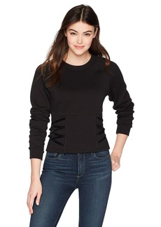 GUESS Junior's Long Sleeve Karissa Lace up Top  M