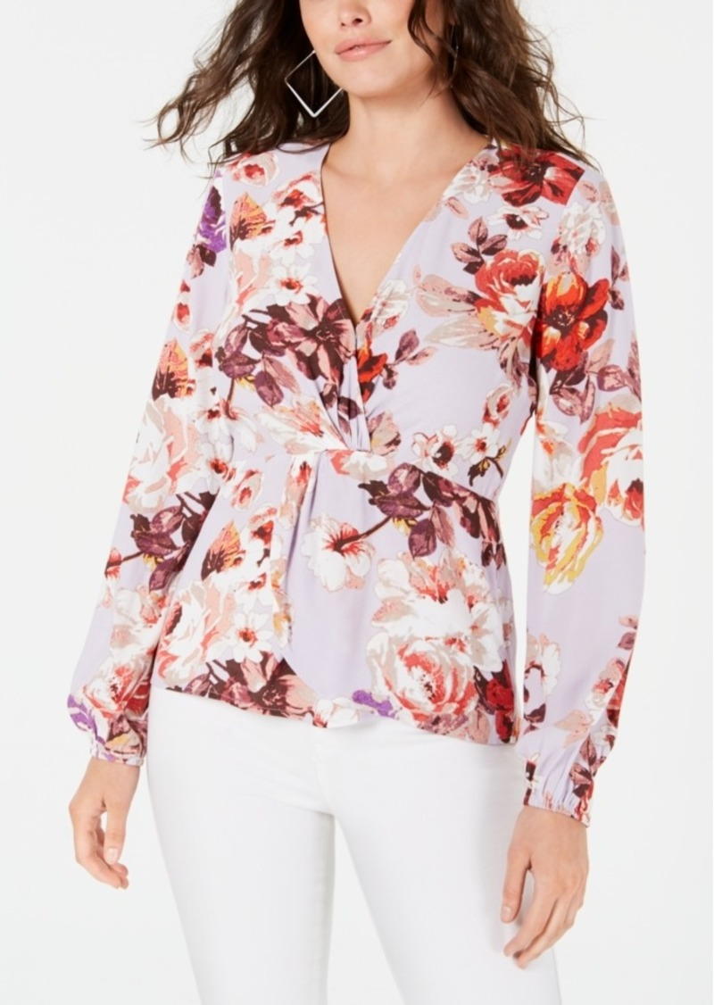 Guess V-Neck Faux-Wrap Top