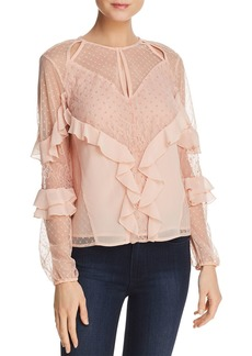 GUESS Juniper Ruffled Cutout Top
