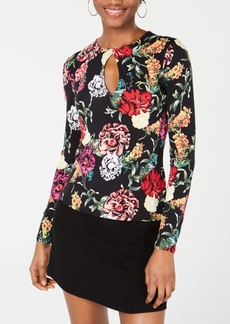 Guess Kain Printed Keyhole Top
