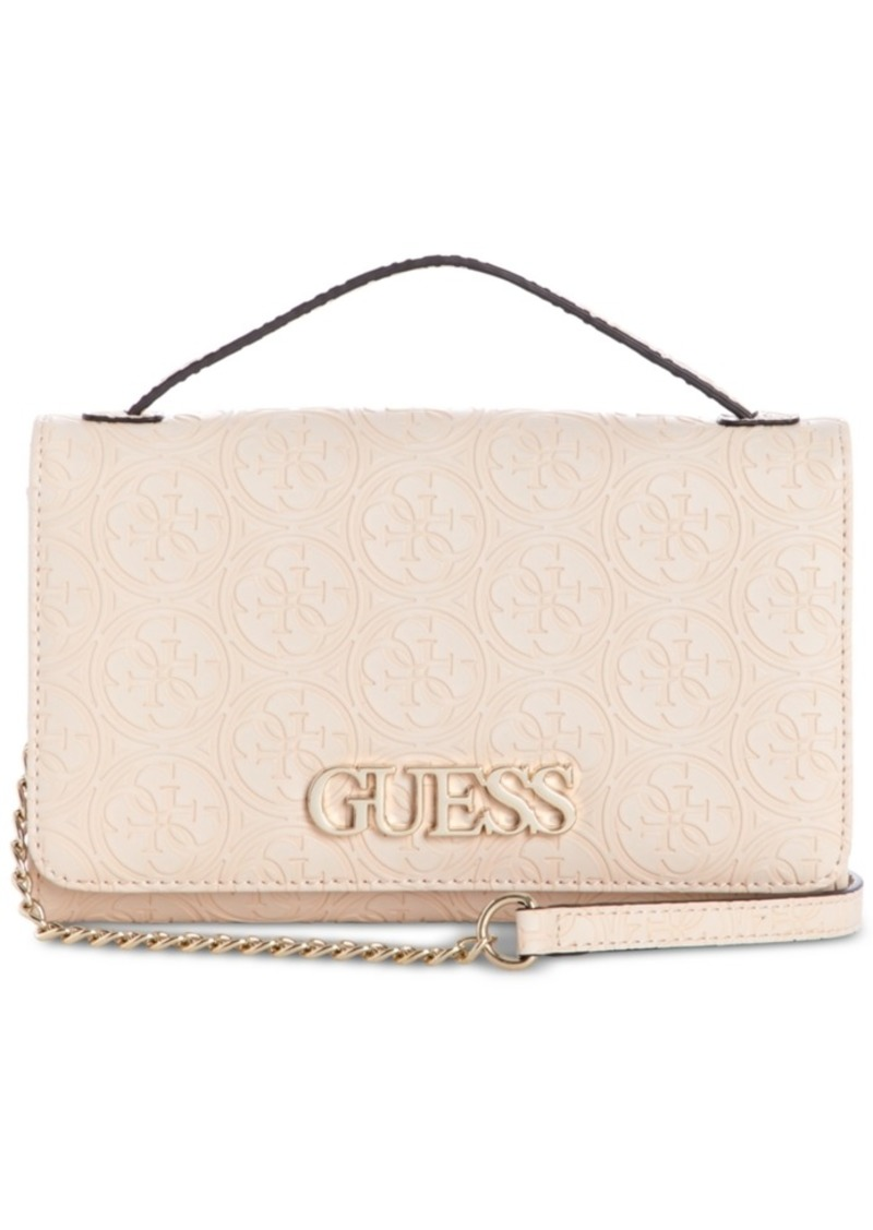 3bd51904b5 On Sale today! GUESS Guess Kamryn Debossed Logo Wallet On A String