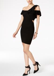 Guess Kenley Ruffled One-Shoulder Sweater Dress