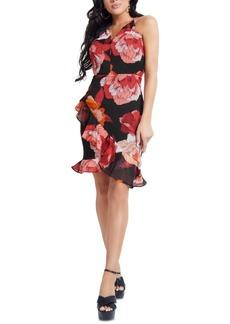 Guess Kersten Floral-Print Ruffle-Hem Dress