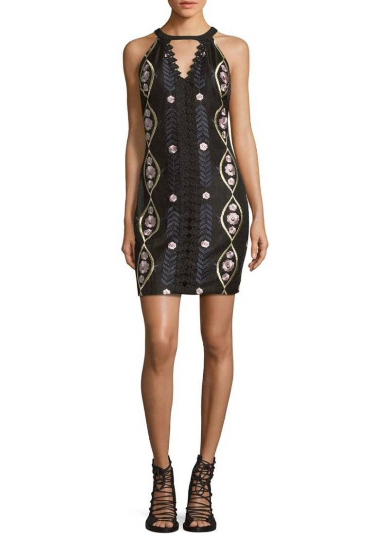 Guess Keyhole Printed A-line Dress
