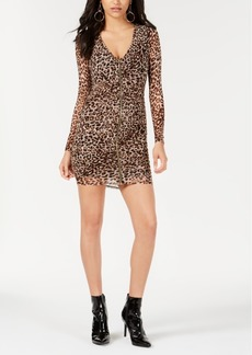 Guess Kinzie Animal-Print Mini Dress
