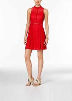 Guess Lace Cutout-Back A-Line Dress