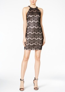 Guess Lace Halter Bodycon Dress
