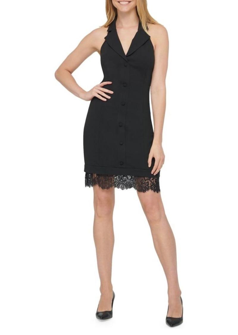 Guess Lace-Hem Blazer Dress